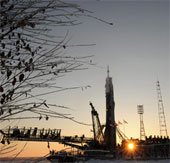 Tàu Soyuz vào bệ phóng cho sứ mệnh đưa người lên ISS