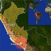Một trận động đất mạnh 7,3 độ Richter xảy ra ở Peru
