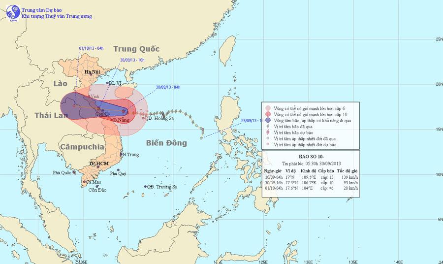 Siêu bão Wutip giật cấp 17 đang hướng vào miền Trung