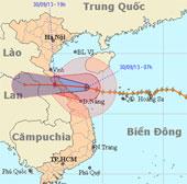 Chiều nay, bão số 10 đổ bộ vào Hà Tĩnh - Quảng Trị