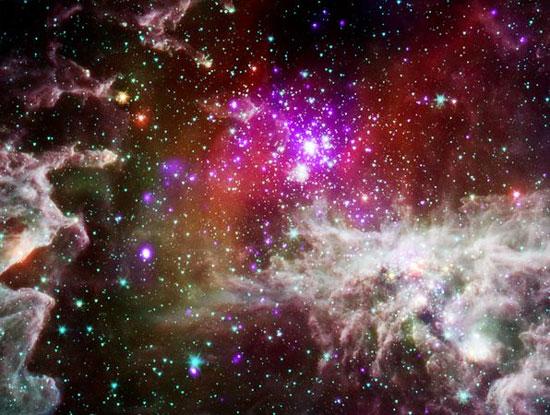 Ảnh vũ trụ: Bong bóng màu hồng trong thiên hà