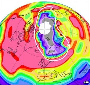 Xuất hiện lỗ thủng ozone tại Bắc Cực