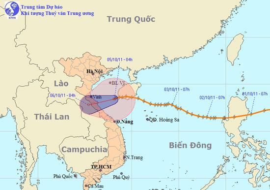 Bão số 6 suy yếu, mưa to ở Thanh Hóa - Quảng Nam
