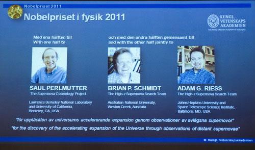 Nobel Vật lý về tay ba nhà thiên văn