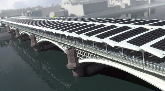 Xây dựng cầu năng lượng mặt trời ở Lon Don