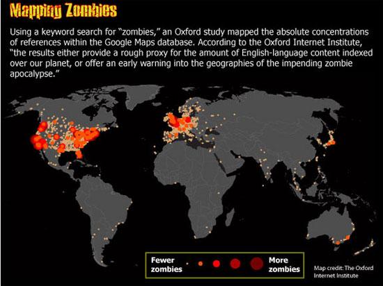 Bản đồ tham khảo Zombie do Viện Internet Oxford lập.
