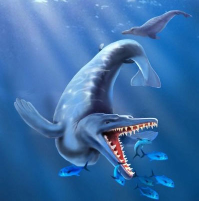 Hình ảnh mô phỏng loài cá voi cổ nhất từ trước đến nay.