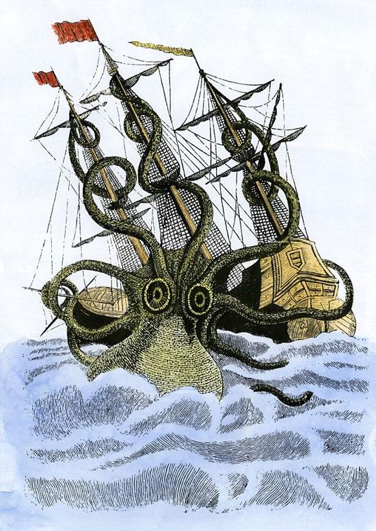 Sự hiện diện của một mô hình xúc tu có thể chứng minh sự tồn tại của loài thủy quái Kraken. (Ảnh: Dailymail)