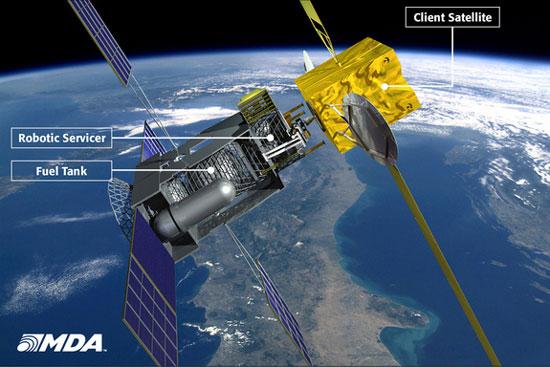 Rô-bốt kéo dài tuổi thọ cho vệ tinh