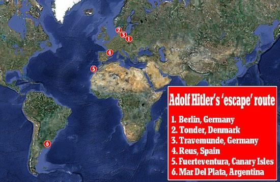 Hitler chết già ở Argentina?