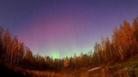 Cực quang ở miền nam Phần Lan vào tối 24/10. (Ảnh: Vesa Vauhkonen)