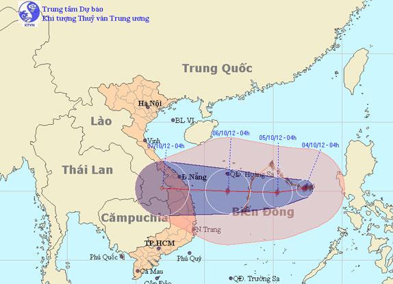Bão Gaemi sẽ đổ bộ vào miền Trung
