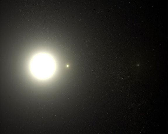 Sao Bắc Cực thực ra là một hệ gồm ba ngôi sao quay quanh một trọng tâm chung.