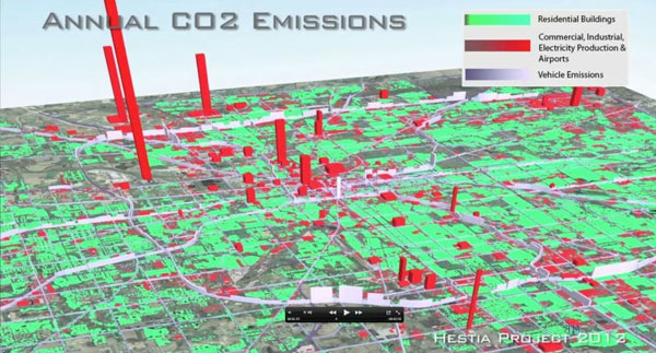 Hestia - hệ thống ước tính lượng khí thải trong không khí