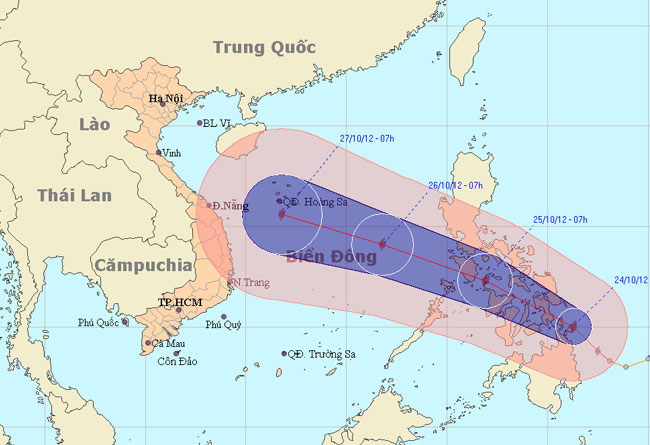 Bão Sơn Tinh sắp vào biển Đông