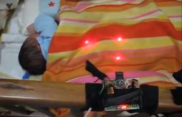 Thiết bị laser theo dõi giấc ngủ của trẻ sơ sinh