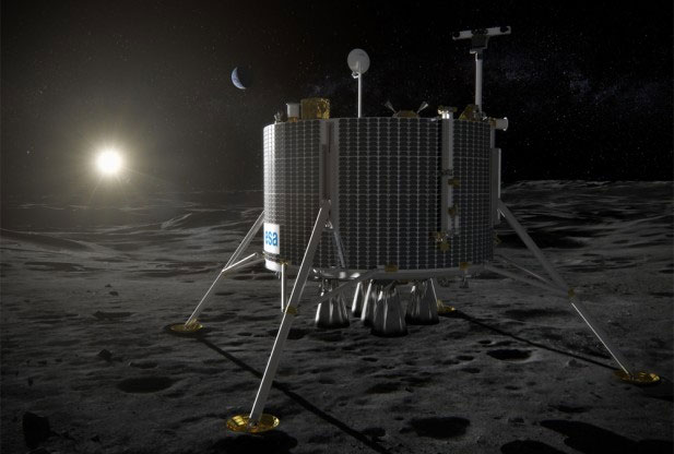 Mô hình tàu thám hiểm Mặt trăng của châu Âu