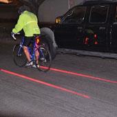 Xe đạp tự tạo ra làn đường