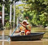 Lũ lụt hoành hành ở Thái Lan, 23 người thiệt mạng