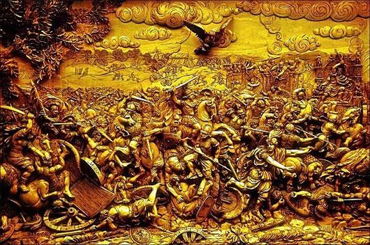 Bức điêu khắc trận đại thắng Gaugamela của Alexander