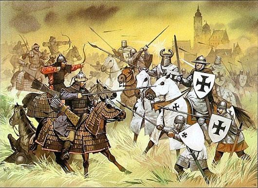 Kỵ binh nhẹ của Thành Cát Tư Hãn vượt trội hẳn so với kỵ binh châu Âu nặng nề, chậm chạp