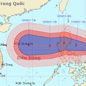 Bão Nari mạnh cấp 11 hoạt động gần biển Đông