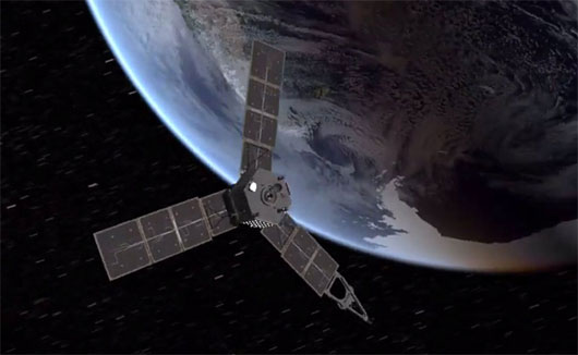 Tàu thăm dò sao Mộc Juno bay sát Trái đất