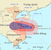 Bão Nari áp sát vùng biển các tỉnh miền Trung