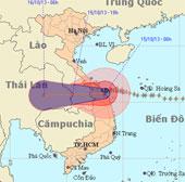 Bão Nari đổ bộ vào Đà Nẵng, miền Trung mưa lớn