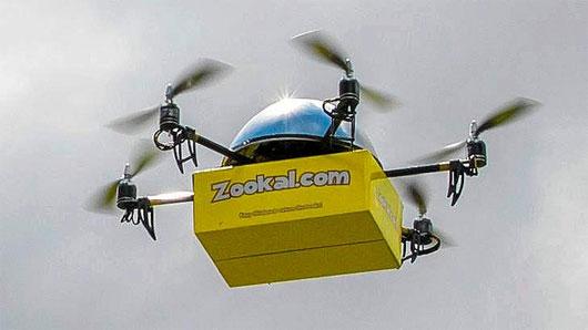 Thuê sách qua thiết bị bay không người lái