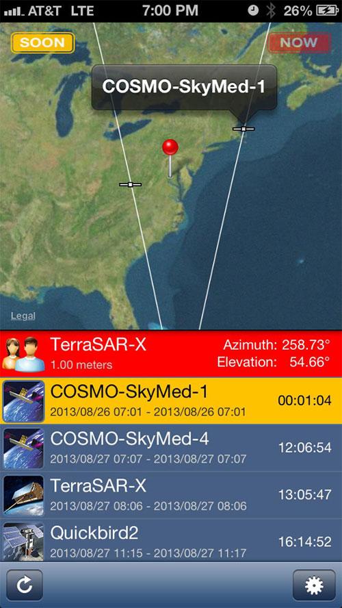 Ứng dụng cảnh báo bị theo dõi từ vệ tinh