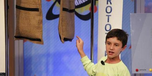Cậu bé 11 tuổi giành giải sáng tạo túi chống lụt