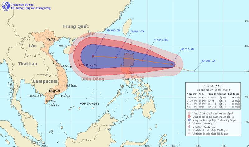 Xuất hiện bão gần Biển Đông