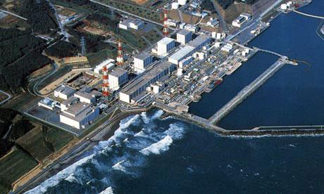 Nhà máy điện hạt nhân Fukushima I. (Ảnh: Guardian)