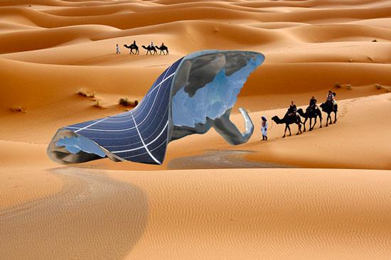 """Xây dựng hệ thống """"Sunglacier"""" tạo ra băng trong điều kiện ở sa mạc"""