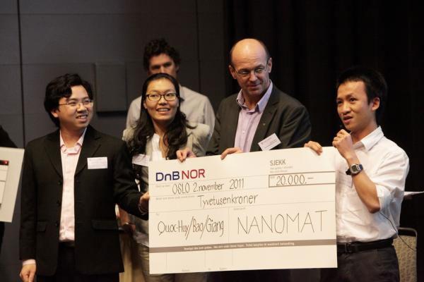 Sinh viên Việt Nam chiến thắng trong cuộc thi Nanomat tại Nauy
