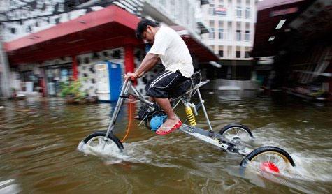 Sáng kiến trong lũ lụt ở Bangkok