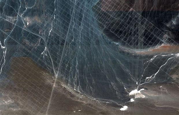 Hình thù bí ẩn được Google Earth phát hiện. (Nguồn: Newscientist)