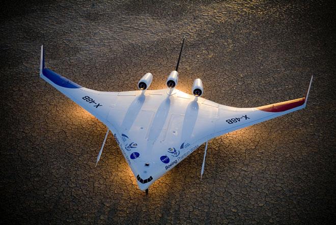 Máy bay tương lai bay theo đàn như chim