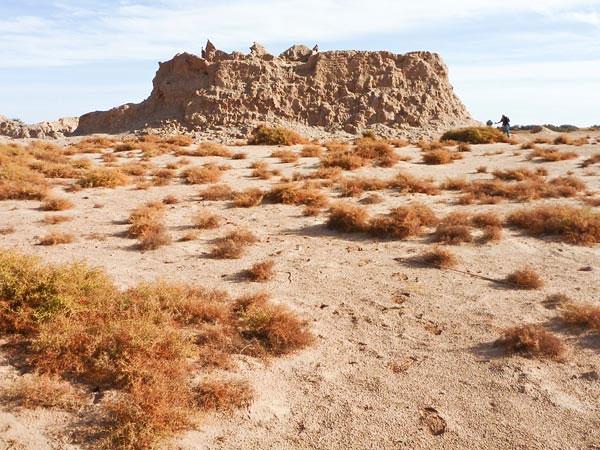 Kiến trúc xây dựng bằng hợp chất gạch bùn bởi những người bí ẩn Garamantes - (Ảnh: National Geographic)