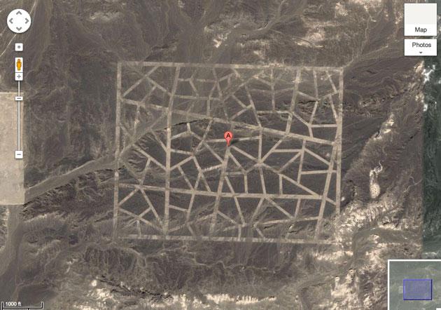 Những cấu trúc bí ẩn vừa được công cụ Google Maps phát hiện trên khu vực thuộc sa mạc Gobi ở Trung Quốc rất có thể là điểm tựa để vệ tinh do thám định hướng.