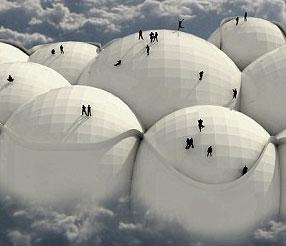Kì lạ máy bay hình đám mây