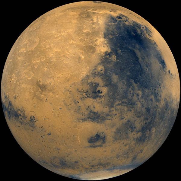Sao Hỏa được chụp từ tàu vũ trụ Viking của NASA vào năm 1975.