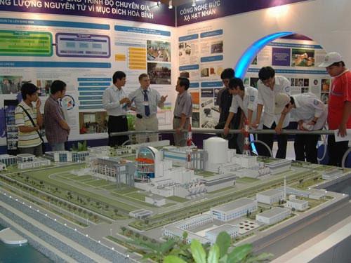 Mô hình nhà máy điện hạt nhân Ninh Thuận 1 do phía Nga xây dựng.