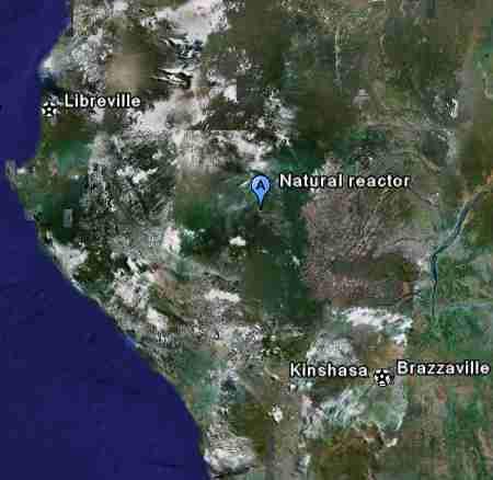 Vị trí của Oklo trên bản đồ.