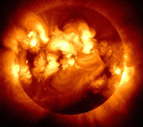 Mặt trời ở trạng thái hoạt động mạnh nhất