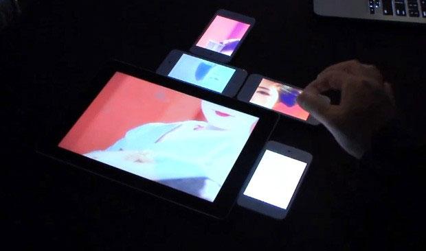 Công nghệ Pinch cho phép tạo một màn hình chung từ màn hình của một vài thiết bị cảm ứng