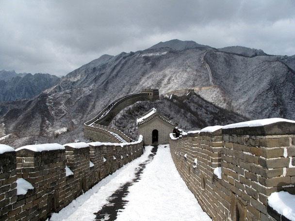 Tuyết phủ trắng xóa Vạn lý trường thành