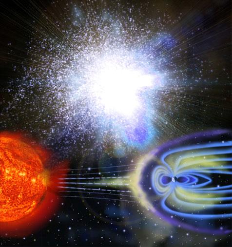 Trường địa từ là lá chắn bảo vệ trái đất khỏi bức xạ từ mặt trời và vũ trụ