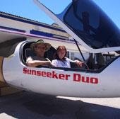 Sunseeker chế tạo máy bay hai chỗ đầu tiên chạy bằng năng lượng mặt trời